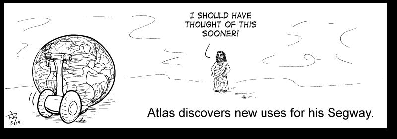 Atlas and his Segway